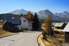 Serbian mountain village Stock Photos