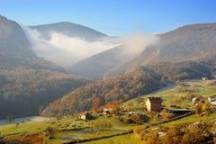 Serbian mountain village Royalty Free Stock Images