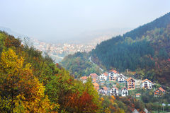 Serbian mountain village Stock Photos