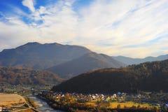 Serbian mountain village Stock Images