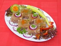Serbian National Food Pihtija Stock Image