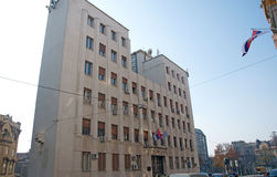 Serbian National News Agency Tanjug in Belgrade Stock Image