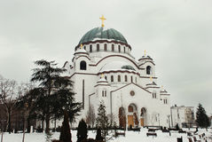 Serbian orthodox church Royalty Free Stock Photos