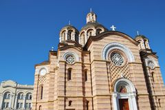Serbian Orthodox Church in Banja Luka, Bosnia and Herzegovina. The Cathedral of Christ the Savior, a Serbian Orthodox Church in Banja Luka, Bosnia and Royalty Free Stock Photography