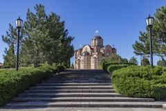 Serbian Orthodox church Hercegovacka Gracanica. In Trebinje, Bosnia and Herzegovina royalty free stock photos