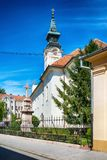 Serbian Orthodox Church of St. George in Sombor. Sombor, Serbia July 12, 2017: Serbian Orthodox Church of St. George in Sombor royalty free stock photography
