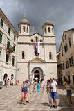 Serbian orthodox church of St Nicolas in Kotor, Montenegro Stock Photography