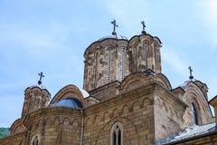 Serbian Orthodox monastery Manasija. Also known as Resava, near Despotovac, Serbia, The church is dedicated to the Holy Trinity Stock Images