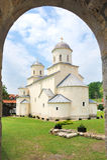 Serbian orthodox Monastery Mileseva, Serbia. Serbian orthodox Monastery Mileseva, founded by King Vladislav in 13th century, Serbia Royalty Free Stock Photography