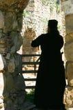 Serbian orthodox monastery priest. Priest  of Serbian orthodox Monastery Manasija, XV century Despotovac city Serbia Stock Image