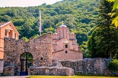 Serbian orthodox monastery. Ravanica central Serbia royalty free stock image