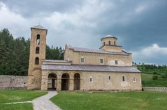 Serbian Orthodox Monastery Sopocani, 13th Century. Serbia royalty free stock photography