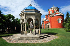 Serbian Orthodox Monastery Zica stock photo