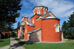 Serbian Orthodox Monastery Zica royalty free stock photos