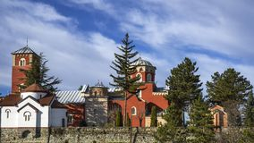 Serbian Orthodox Monastery Zica stock photography