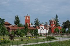 Serbian Orthodox Monastery Zica,. Kraljevo royalty free stock photos