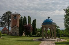 Serbian Orthodox Monastery Zica. Kraljevo royalty free stock photography