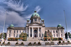 Serbian parliament Royalty Free Stock Photos
