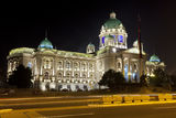 Serbian parliament Royalty Free Stock Images
