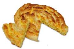 Serbian Pastry - Burek sa sirom. Serbian stile pastries -  Domaci burek sa sirom, savijaca Royalty Free Stock Image