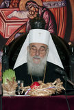 Serbian Patriarch IRINEJ-11. BELGRADE-JANUARY 4.His Holiness Irinej read Christmas Epistle of the Serbian Orthodox Church in Serbian Patriarchate in Belgrade royalty free stock image