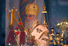 Serbian Patriarch IRINEJ-4 Royalty Free Stock Photos