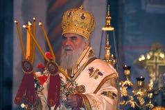 Serbian Patriarch IRINEJ-4 royalty free stock photos