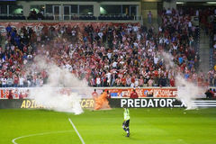 Serbian Red Star Belgrade fans Stock Photo