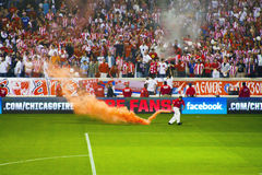 Serbian Red Star Belgrade fans Stock Images