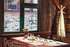 Serbian Restaurant Stock Photo