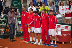 Serbian team on Davis Cup, BELGRADE, SERBIA JULY 16, 2016 Stock Photo