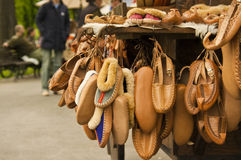 Serbian traditional shoes. Traditional Serbian folk shoes called Opanci on Serbia Royalty Free Stock Photos