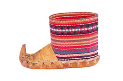 Serbian Traditional Shoes royalty free stock photos