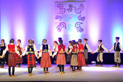 Serbian Youth Dancers Royalty Free Stock Images