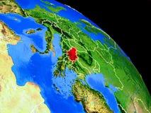 Serbien auf Planet Erde vektor abbildung