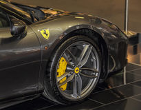 Serbien; Belgrad; Am 2. April 2017; Der Abschluss oben von Ferrari; die 53 Lizenzfreie Stockbilder