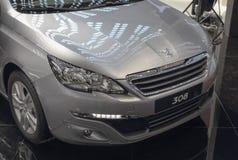 Serbien; Belgrad; Am 2. April 2017; Vorderseite von Peugeot 308;  Lizenzfreies Stockfoto