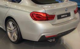 Serbien; Belgrade; April 2, 2017; dra tillbaka av BMW 4 serie; 53rd Arkivfoton