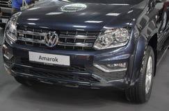 Serbien; Belgrade; Mars 24, 2018; Volkswagen Amarok framdel; 5na Fotografering för Bildbyråer