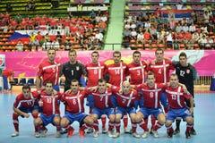 Serbien nationellt futsal lag Fotografering för Bildbyråer