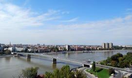 Serbien-Stadt Novi traurig stockbild