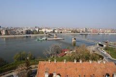 Serbien-Stadt Novi traurig Stockbilder