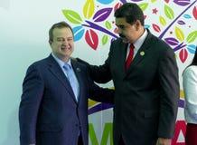 Serbiens Außenminister Ivica Dacic und venezolanischer Präsident Nicolas Maduro Stockfoto