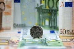 Serbische Dinare Stockfoto