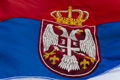 Serbische Flagge Lizenzfreie Stockbilder
