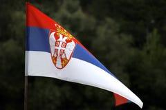Serbische Flagge Stockbild