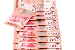 Serbisches amtliches Geld Stockbild
