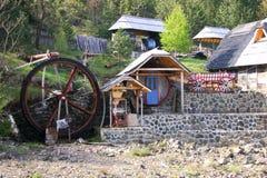 Serbisches Dorf Stockfotografie
