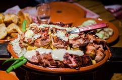 Serbisches Lebensmittel stockbild