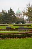 Serbisches Nationalversammlungsgebäude lizenzfreies stockfoto